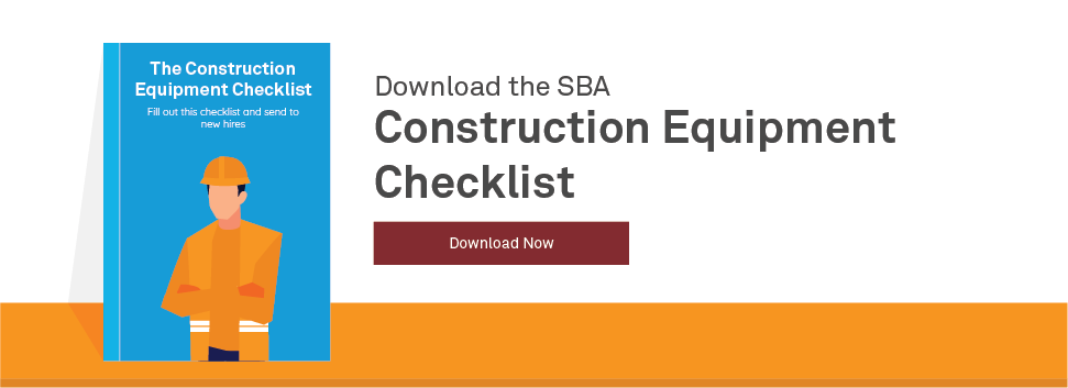 Hire Construction Workers Construction Equipment Checklist